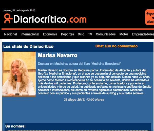 Chat diariocritico.com con Marisa Navarro